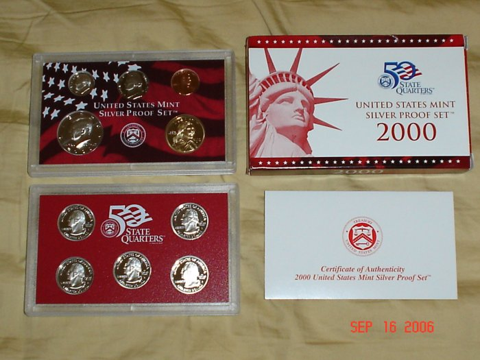 United States Mint 2000 Silver Proof Coin Set