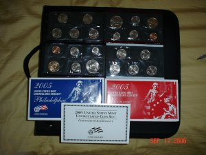 United States Mint 2005 uncirculated Coin Set.