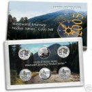 United States Mint 2005 Nickel Series Coin Set.