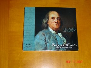 Benjamin Franklin Silver Dollar Coin And Stamps Chronicles Set