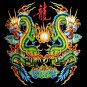 TWIN DRAGON BLACK TATTOO TEE T SHIRT Size L / D32