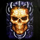 HEAD SKULL BLACK TATTOO ROCK TEE T SHIRT Size L / D30