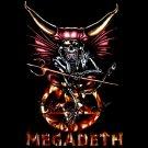 MEGADETH BLACK HEAVY METAL TEE T SHIRT Size M / D69
