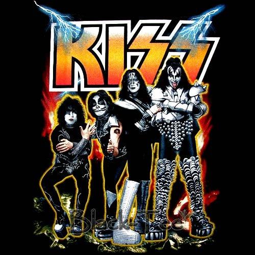 KISS BLACK CLASSIC ROCK TEE T SHIRT Size S / E87