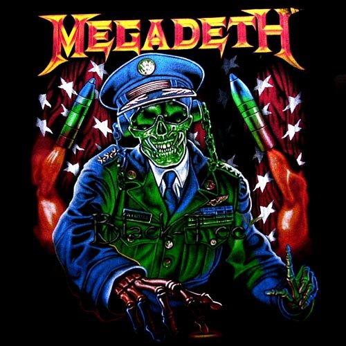 MEGADETH BLACK HEAVY METAL TEE T SHIRT SIZE XL / D71
