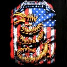 METALLICA BLACK HEAVY METAL TEE T SHIRT Size L / D21
