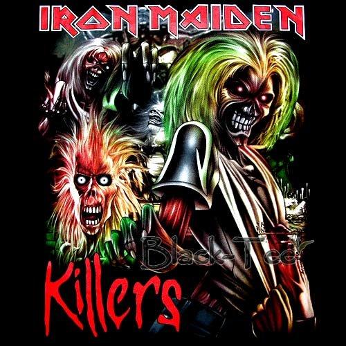 IRON MAIDEN HEAVY METAL TEE T SHIRT KILLERS Size S / F97