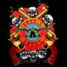 GUNS N ROSES ROCK TEE T SHIRT TWIN GUNS SIZE M / F44