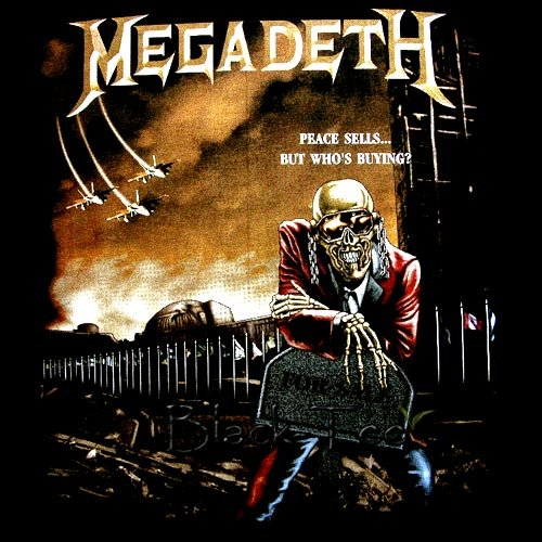 MEGADETH HEAVY METAL TEE BLACK T SHIRT SIZE S / D70