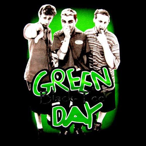 GREEN DAY BLACK PUNK ROCK TEE T SHIRT SIZE XL / D74