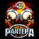 PANTERA BLACK TEE HEAVY METAL T SHIRT SIZE L / D78