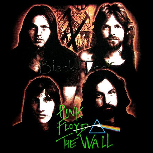 PINK FLOYD BLACK ROCK TEE T SHIRT THE WALL Sz. S / D83