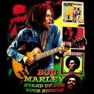 BOB MARLEY BLACK REGGAE TEE T SHIRT JAMAICA Sz. XL / E67