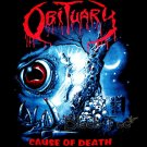 OBITUARY BLACK TEE T SHIRT CAUSE OF DEATH SIZE XL / E83