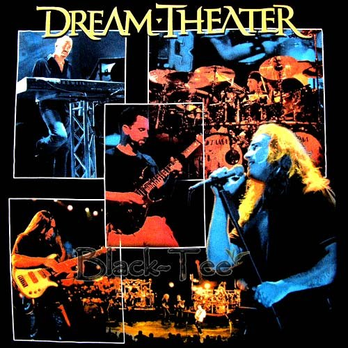 DREAM THEATER BLACK TEE T SHIRT CONCERT SIZE XL / E85
