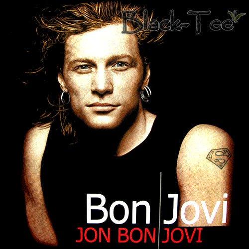 BON JOVI BLACK HARD ROCK TEE T SHIRT FACE SIZE M / E96