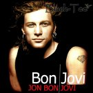 BON JOVI BLACK HARD ROCK TEE T SHIRT FACE SIZE M / E96