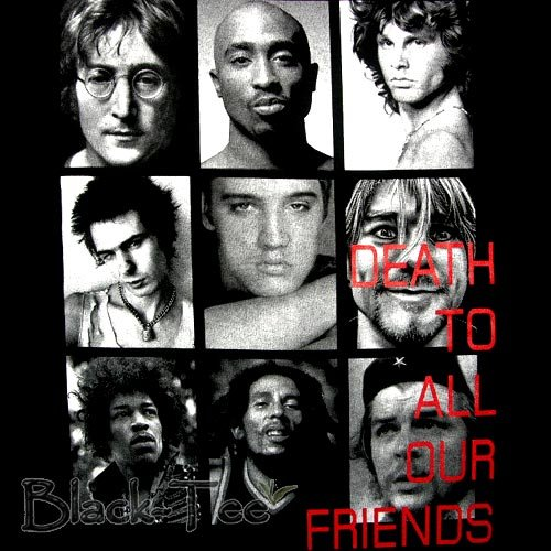 DEATH TO ALL OUR FRIENDS DEATH ROCK T SHIRT Sz. XL / F01