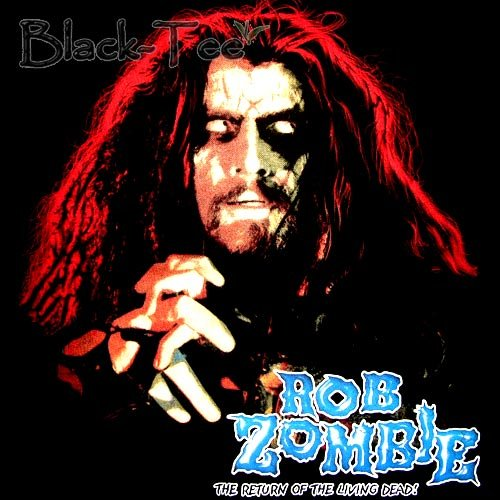 ROB ZOMBIE BLACK HEAVY METAL TEE T SHIRT SIZE L / F05