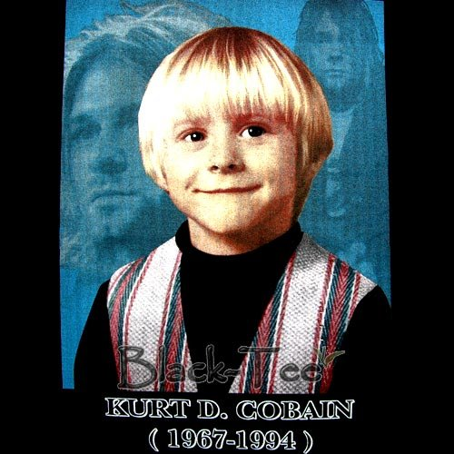 KURT D. COBAIN : NIRVANA CHILD T SHIRT ROCK Sz. M / F06