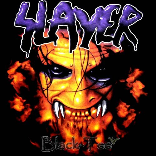 SLAYER BLACK HEAVY METAL TEE T SHIRT SIZE L / F11