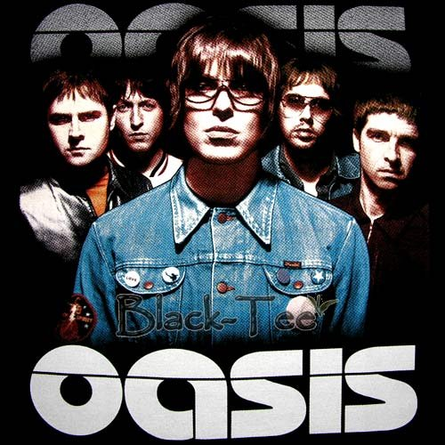 OASIS BLACK ROCK TEE T SHIRT BAND SIZE S / F16