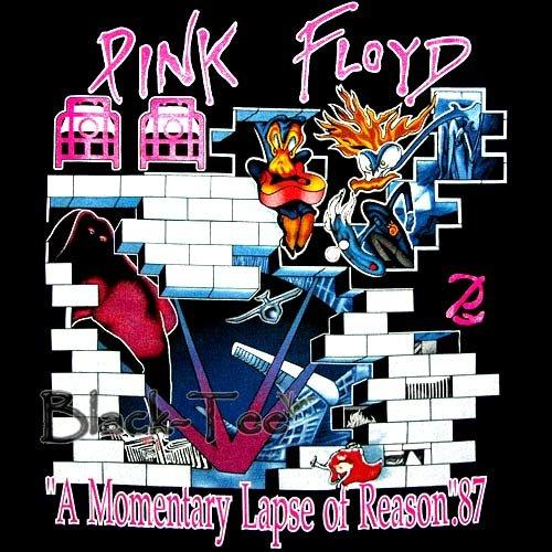 PINK FLOYD ROCK TEE T SHIRT BLACK TOP SIZE S / F25