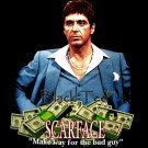 SCARFACE BLACK PACINO TEE T SHIRT MONEY SIZE XL / F26