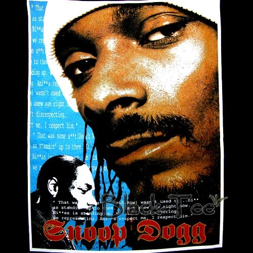 SNOOP DOGG BLACK HIP HOP TEE T SHIRT RAP SIZE S / F27