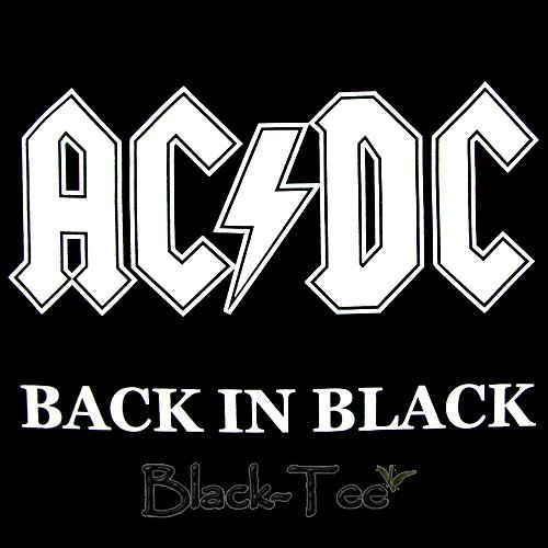 AC/DC ROCK TEE T SHIRT BACK IN BLACK SIZE M / F36