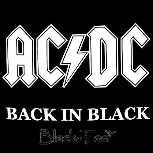 AC/DC ROCK TEE T SHIRT BACK IN BLACK SIZE XL / F36