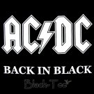 AC/DC ROCK TEE T SHIRT BACK IN BLACK SIZE XL / F36