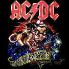 AC/DC ROCK TEE T SHIRT ARE YOU READY? SIZE S / F38