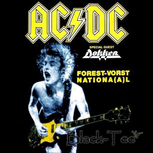 AC/DC ROCK TEE T SHIRT FOREST-VORST NATIONAL Sz.S / F39