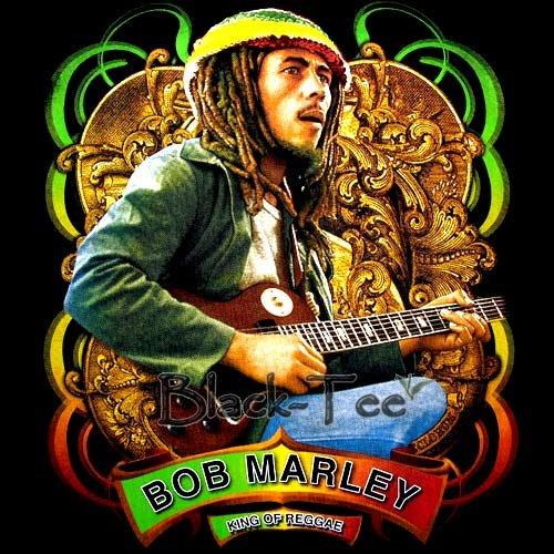 BOB MARLEY KING OF REGGAE T SHIRT JAMAICA SIZE L / F45