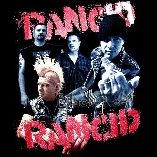 RANCID BLACK PUNK ROCK TEE T SHIRT BAND SIZE S / F46
