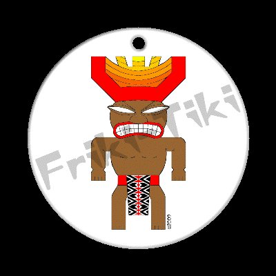 FRIKI-TIKI   Joe-Tiki   Porcelain Christmas Ornament - NEW Collectible
