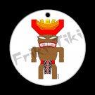 FRIKI-TIKI   Joe-Tiki   Porcelain Christmas Ornament - NEW Collectible