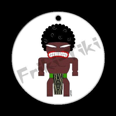 FRIKI-TIKI   Afro-Tiki   Porcelain Christmas Ornament - NEW Collectible