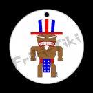 FRIKI-TIKI   Ameri-Tiki   Porcelain Christmas Ornament - NEW Collectible