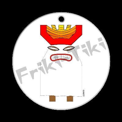 FRIKI-TIKI   Boo-Tiki   Porcelain Christmas Ornament - NEW Collectible