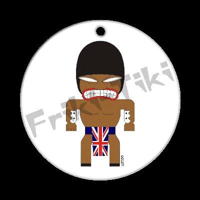FRIKI-TIKI   Brit-Tiki   Porcelain Christmas Ornament - NEW Collectible