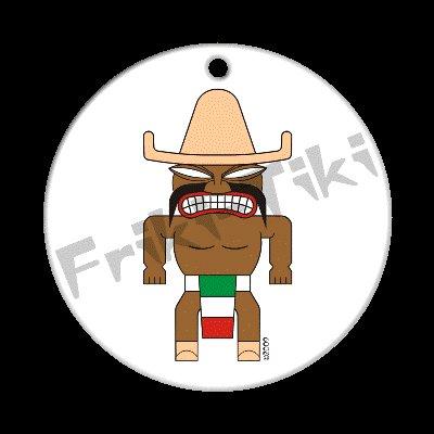 FRIKI-TIKI   Mexi-Tiki   Porcelain Christmas Ornament - NEW Collectible