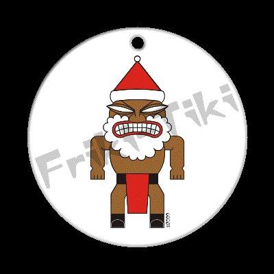FRIKI-TIKI   Santa-Tiki   Porcelain Christmas Ornament - NEW Collectible