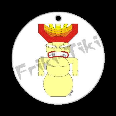 FRIKI-TIKI   Snow-Tiki   Porcelain Christmas Ornament - NEW Collectible