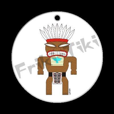 FRIKI-TIKI   Tonto-Tiki   Porcelain Christmas Ornament - NEW Collectible