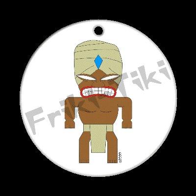FRIKI-TIKI   Turbin-Tiki   Porcelain Christmas Ornament - NEW Collectible