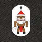 "FRIKI-TIKI   Santa-Tiki   Dog Tag w/ 30"" Ball Chain - NEW"