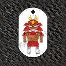 """FRIKI-TIKI   Samurai-Tiki   Dog Tag w/ 30"""" Ball Chain - NEW"""