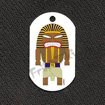 """FRIKI-TIKI   Pharaoh-Tiki   Dog Tag w/ 30"""" Ball Chain - NEW"""